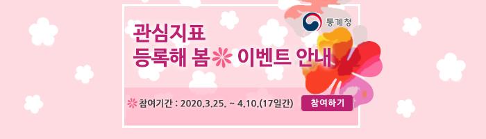 관심지표 등록해 봄 이벤트 안내 참여기간:2020.3.25.~4.10.(17일간) 참여하기